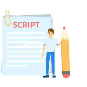 Script, write, copy